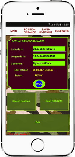 GPS location finder 1.